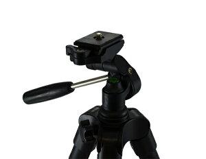 Fotopro三脚4段小型3WAY雲台アルミ製DIGI-204BK