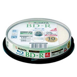 RiDATAライデータブルーレイディスク10枚入り[BD-R130PW]【02P03dec10】