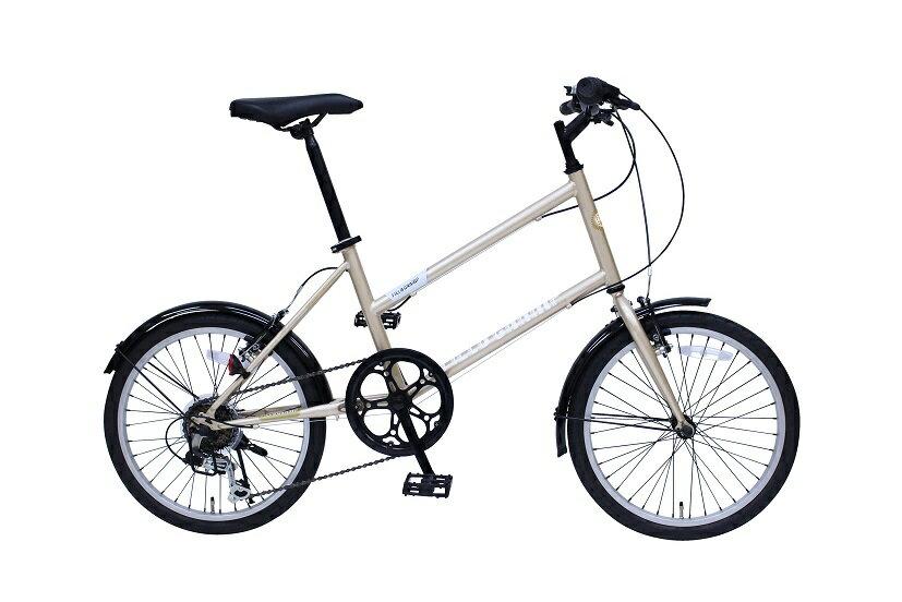 【送料無料】【受発注品】ミムゴ 20インチ シティサイクル 自転車 FIELD CHAMP MINIVELO206SE シャンパンゴールド MG-FCX206E