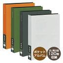 ナカバヤシ 黒台紙 超透明 ポケットアルバム 2L判2段 120枚 オレンジ/グリーン/ホワイト/ブラック CTDP-2L-120【受発…