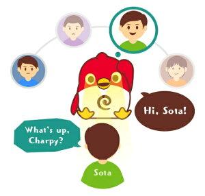 "CharpyChocolate英会話ロボット""チャーピー""がいれば自宅が英会話教室に!"