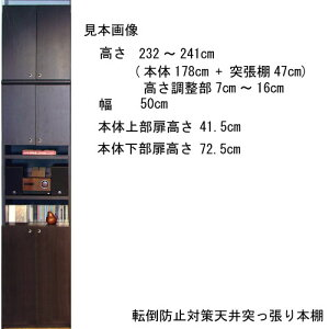 高さ250〜259cm幅45〜59cm奥行19cm厚棚板(棚板厚2.5cm)