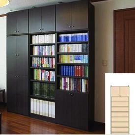 薄型 本棚 木製本棚 オープン壁面収納 UX 耐荷重本棚 薄型書棚 簡単リフォーム 高さ226〜235cm幅60〜70cm奥行40cm 標準棚板(厚さ1.7cm) 薄型本棚