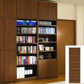 薄型 本棚 壁面本棚 オフィス壁収納 UX つっぱり本棚 薄型書棚 組立家具 高さ274.1〜283.1cm幅60〜70cm奥行46cm厚棚板(棚板厚2.5cm) タフ棚板(厚さ2.5cm) 薄型本棚