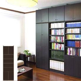 薄型 本棚 壁面本棚 大型下扉付壁収納 UX 壁面本棚 薄型書棚 簡単リフォーム 高さ283.1〜292.1cm幅60〜70cm奥行46cm 標準棚板(厚さ1.7cm) 薄型本棚