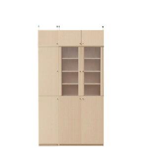 扉付き薄型食器棚