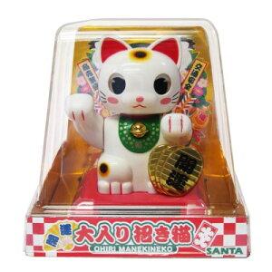 SANTA 大入り招き猫 トイ 首振り人形 ソーラー電池 まねき猫 開運