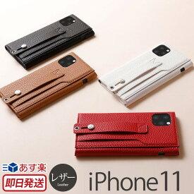【あす楽】 iPhone 11 ケース レザー Deff clings Slim Hand Strap Case for iPhone11 アイフォン 11 iPhoneケース ブランド スマホケース iPhone イレブン 背面 カバー 携帯ケース 背面収納 皮 革 レザー おしゃれ ストラップ スタンド カードポケット iPhone XI