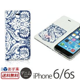 ed6ec267bd iPhone6 手帳型 ケース デニム ペイズリー柄 ZENUS Denim Paisley Diary iPhone 6 アイフォン6 アイホン