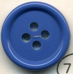 トップカラーポリボタン(ツヤ) 4つ穴 ネイビーブルー