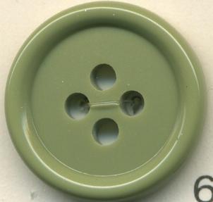 トップカラーポリボタン(ツヤ) 4つ穴 グラスグリーン