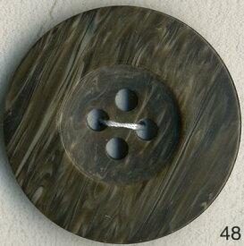 【大きいサイズ】 ストーン調ポリボタン 4つ穴 ブラウン