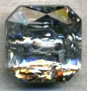 クリアーボタン 7168 二つ穴 シルバー