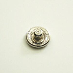 【カネエム製】 アメリカンホック 金属スナップボタンパーツ ゲンコ 10mm シルバー 【30個】