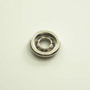【カネエム製】 アメリカンホック 金属スナップボタンパーツ バネ 10mm シルバー 【30個】