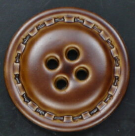 レザー調ボタン 四つ穴 ブラウン【日本製】