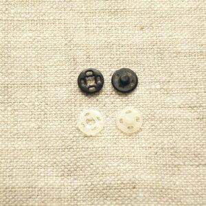 プラスチックホック スナップボタン 7mm プラスナップ 【5セット入り】