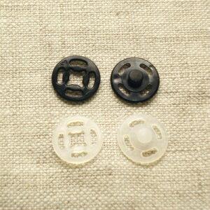 プラスチックホック スナップボタン プラスナップ 13mm  【4セット入り】