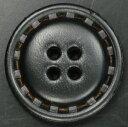 本革ボタン 4つ穴 ブラック