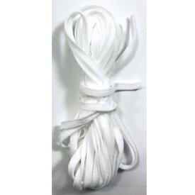 【5M巻き】フワフワ手作りマスクひも/伸び止めテープ ウーリースピンテープ オフホワイト※受注過多のため、出荷までに一週間程度かかります。