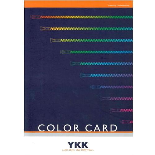 YKK ファスナーカラーブック 色見本帳 サンプルカラースワッチ 全582色