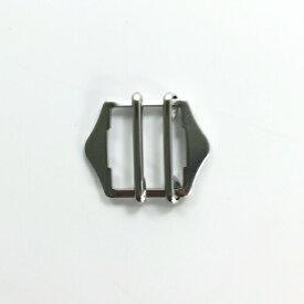 山型 通しカン 六角尾錠 2本線 20mm幅用 【2個入り】【3色展開】