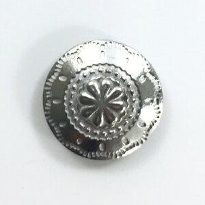 メール便OK 『コンチョボタン メタル飾りボタン ナバホ柄 25mm シルバー』 【10個入り】