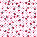【国産リップル/シボ加工】イチゴ ハート ピンク 108cm巾/1M単位 生地/布