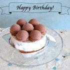 可愛いチョコレートのジェラートアイスケーキ