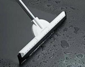 【大掃除におすすめ】ヘッドの角度が変わる床用水切りワイパー(40cm) 白|フロアタイル掃除後の汚水を除去するスクイジー