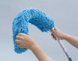 【大掃除におすすめ】高所掃除用の曲がるモップ はたきの代わりとしても高いところのホコリ取りに使えます 伸縮ポールが2mまで伸びる 窓拭きや吹き抜け掃除にお使い頂けます