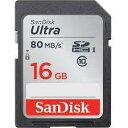 SANDISK SDメモリーカード SDSDUNC-016G-GN6IN 海外パッケージUltra SDHCカード CLASS10 UHS-I R:80MB/s 海外リテール