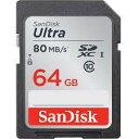 SANDISK SDメモリーカード SDSDUNC-064G-GN6IN 海外パッケージUltra SDXCカード CLASS10 UHS-I R:80MB/s 海外リテール SDSDUNC-064G-GN6IN