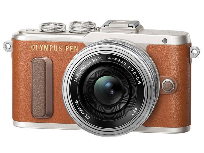 OLYMPUS デジタル一眼カメラ OLYMPUS PEN E-PL8 14-42mm EZレンズキット [ブラウン]