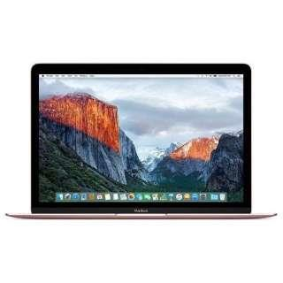 APPLE Mac ノート MacBook Retinaディスプレイ 1200/12 MNYM2J/A [ローズゴールド]