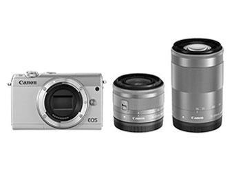 CANON デジタル一眼カメラ EOS M100 W ZOOM KIT/WH