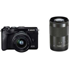 CANON デジタル一眼カメラ EOS M6 Mark II ダブルズームキット [ブラック]