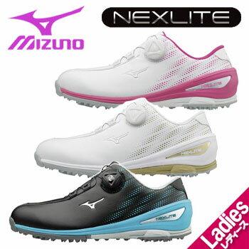 ミズノ ネクスライト 004 ボア 51GW1720 レディース ゴルフシューズ NEXLITE 004 BOA MIZUNO スパイクレス