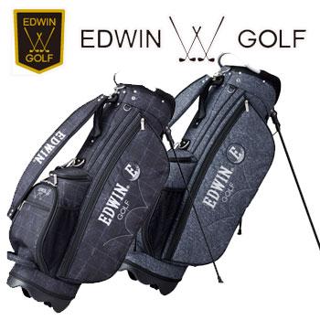即納★値下 エドウィンゴルフ スタンド式 軽量 キャディバッグ EDWIN-037S 9型 3.0kg 47インチ対応 EDWIN GOLF エドウイン エドイン 男女兼用(ユニセックス)