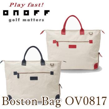 オノフ ONOFF ボストンバッグ OV0817 キャンバスレザーシリーズBoston Bag グローブライド 【KOBE】