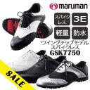 即納★[期間限定価格][あす楽対応]マルマン メンズ ゴルフシューズ ウイングチップモデル スパイクレス GSK7750…