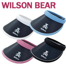 即納★ウィルソン ベア レディース ツバ広バイザー WBV1829L CLIP VISOR クリップバイザー ゴルフ バイザー レディース (WILSON BEAR ウイルソンベア)【ラッキーシール対応】