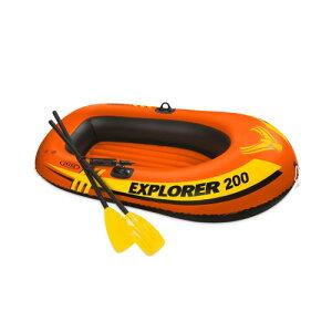 (INTEX)インテックス エクスプローラーボート200SET   ボート 手漕ぎ 浮き輪 大人 フロート うきわ プール 海水浴 レジャー キャンプ アウトドア