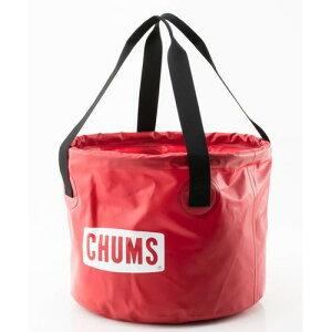 (CHUMS)チャムス バケツ 30L (Red) | バケツ 折りたたみ 釣り 水汲み 軽量 携帯バケツ キャンプ アウトドア バーベキュー キャンプグッズ 便利 おしゃれ