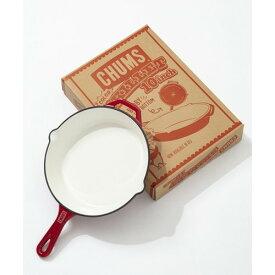(CHUMS)チャムス カラースキレット10インチ レッド | スキレット フライパン 10インチ メイン インスタ映え パエリヤ用 アクアパッツァ用 ピザ用 直火 オーブン グリル トースター キャンプ アウトドア バーベキュー キャンプグッズ 便利 おしゃれ