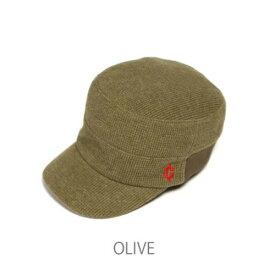 (clef)クレ RB3357 KNT RIB WORK CAP OLV