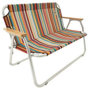 (LOGOS)ロゴス neos チェアfor2-ST(オレンジストライプ) | キャンプ用品 おしゃれ グッズ バーベキュー イス アウトドアチェア バルコニー いす ベランダ チェアー チェア アウトドア 椅子 折り