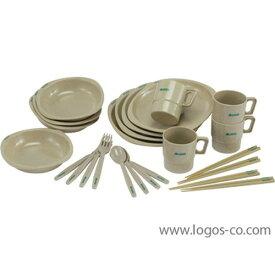(LOGOS)ロゴス 箸付きディナーセット4人用 |アウトドア アウトドア用品 アウトドアー 用品 アウトドアグッズ キャンプ キャンプ用品