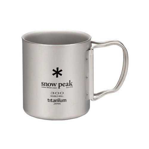 (snow peak)スノーピーク チタンダブルマグ 300 フォールディングハンドル/MG-052FHR (snowpeak) |アウトドア アウトドア用品 アウトドアー 用品 アウトドアグッズ キャンプ キャンプ用品
