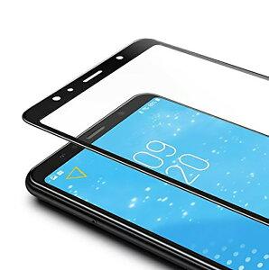 Galaxy A7 2018 全面保護フィルム ガラスフィルム 強化ガラス 9H 表面硬度9H スマホシート 液晶保護フィルム